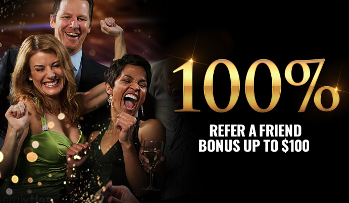 Refer all your friends and get 100% Refer a Friend Bonus up to $100