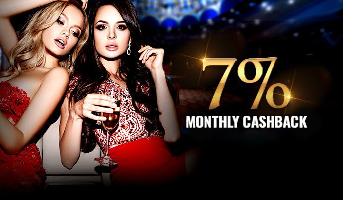 Play any RNG casino game and get a 7% Cashback on all losses up to $500